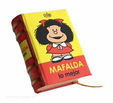 new Mafalda, lo mejor humor fino tiras comicas miniature book pasta dura Quino
