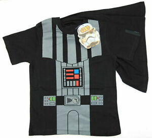 Boys Star Wars Darth Vader Boys Black T-Shirt With Detachable Cape Age 2-3