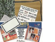 SPORTS SCRAPBOOK KIT INSPIRATIONAL BIBLE ACID FREE PAGES BIRTHDAY GIFT NEW