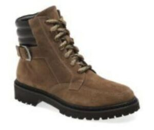Aquatalia NEW Mayra Weatherproof Lace-Up Boot Brown Women's 8 MSRP $295