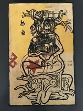 Vintage- Ravi Zupa Hand Painted Original # 34 On Wood Signed 1/1