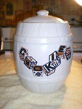 "New listing Usa Woodgrain Look Barrel ""Cookies"" Vintage Cookie Jar Marked Usa Fr/Shp"