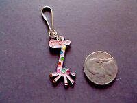 New Giraffe Enamel Silver Plated Alloy Charm Zipper Pull Traditional No Stone