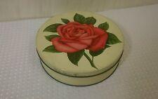"Vintage Mrs. Stevens Chicago Red Rose Candy Tin 8 1/2"""