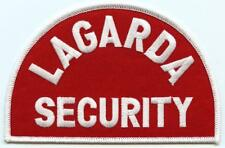 "Lagarda Security Agency Police Officer 5.5"" Patch Detroit Burton Michigan"