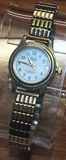 Acqua Indiglo Water Resistant 30 Meters Stainless Steel Gold Toned Ladies Watch!