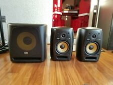 KRK VXT6 monitors and KRK 10s sub and mogami cables
