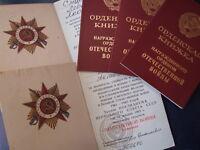 Urkunde Ausweis Orden Großer Vaterländischer Krieg 1.Kl UdSSR Sowjetunion Орден