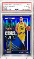 Stephen Curry 2018-19 PANINI CONTENDERS OPTIC BLUE PRIZM /99 PSA 10 POP 4 🔥📈