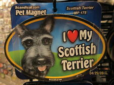 I Love My Scottish Terrier 6 inch oval magnet for car or anything metal New