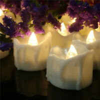 12pcs Flickering Flameless Candles Led Tea Lights with Timer Battery Operated