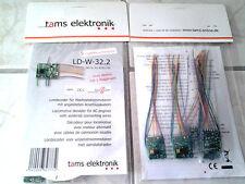 1 Stk. (aus 5er-Pack) Tams Elektronik DCC/MM Lokdecoder LD-W-32.2 - NEU