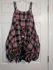 POM POM Girls Plaid Check Layered Jumper Dress European size 140