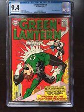 GREEN LANTERN #33 CGC NM 9.4; OW-W; Gil Kane cover/art; Doctor Light app!
