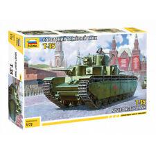 Zvezda 5061 1/72 T-35 Soviet Heavy Tank WWII Plastic Model Kit - ZV5061