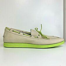 Cole Haan Men's Air Mason Camp Moc Ivory Garden Green Slip On Size 11M #C11346