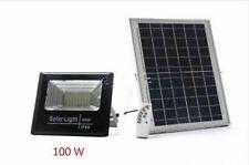 Generico 50W Faro Solare LED esterno con Pannello Telecomando - Nero