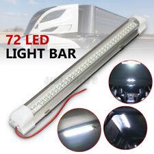 12V 72-LED Car Interior White Strip Light Bar Lamp Van Caravan ON OFF Switch