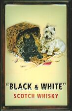 Black & White Scotch Whisky Motif 1 Tin Sign 3D Embossed Tin Sign 20 x 30 cm