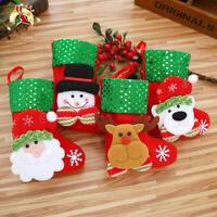 Mini Christmas Stocking Santa Claus Candy Bag Christmas Tree Hanging Decoration