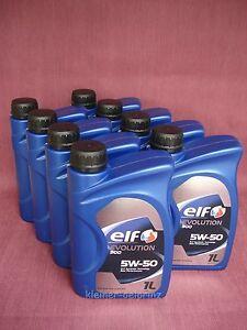 8 Litre Elf Evolution 900 5W-50 Entièrement Synthétique Huile (Excellium)