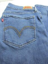 Levi 524 Skinny Jeans 11M Levi Strauss & Co Red Label Cotton Blue Denim
