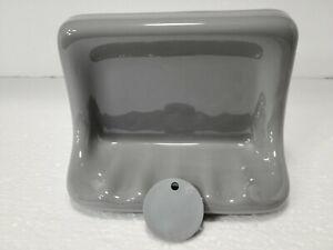 Suede Gray Grey Ceramic Soap Dish Tray Tub Silver Daltile 0182 Classic Color 302