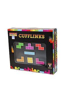 NEW Tetris Cufflinks Set 7 Tetromino Shapes Gift Tetrads, Blocks Secret Santa