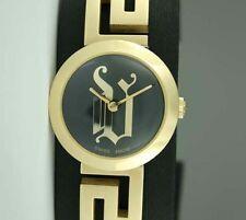 VERSACE Medusa Meandros Ladies Round Swiss Gold Tone Watch