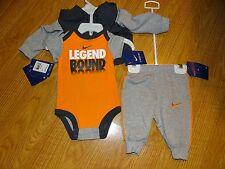 Nike Baby Boys 3 Piece Set Pants Bodysuit Hoodie Sweatshirt Size 0-3 Months NWT