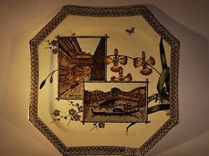 "WALLIS GIMSON & CO ""THE WORLD"" VENICE Rd 7624 OCTAGONAL PLATE DATE MARK 1884"