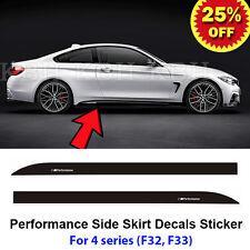 2pcs M Performance Side Skirt Sill Decal Stripe Sticker for BMW 4 Series F32 F33