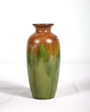 Vintage Hosley Pottery Brown and Green Vase