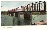 Undated Unused Postcard Bridge at Williamsport Pennsylvania PA