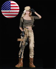 """1/6 Tactical Military Combat Suit Set For 12"""" PHICEN Hot Toys Female Figure"""