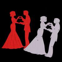 Stanzschablone Brautpaar Weihnachts Hochzeit Geburtstag Album Karte Einladung