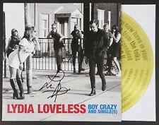 LYDIA LOVELESS SIGNED BOY CRAZY LP  VINYL RECORD ALBUM W/COA