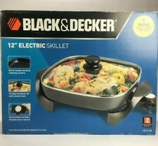 Black & Decker 12 Inch Electric Nonstick Skillet, Black (Model: SK1212B) NEW
