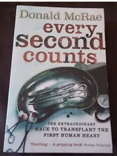 EVERY SECOND COUNTS Heart Transplant Christiaan Barnard Donald McRae 💥30% 2+