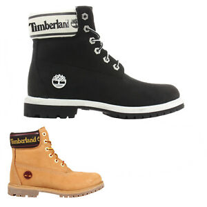 Timberland 6'' Premium Waterproof Nubuck Lace-up Ankle Combat Womens Boots