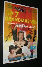 Originl 7 GRANDMASTERS HONG KONG POSTER Joseph Kuo JACK LONG Yi-Min Li NANCY YEN
