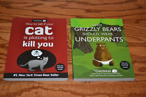 2-Books-Oatmeal-Cat Is Plotting To Kill You/Grizzly Bears Should Wear Underpants