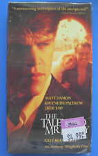 Matt Damon The Talented Mr. Ripley Paramount Vhs Sealed but Previously Viewed