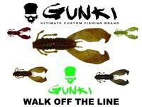 "GUNKI 3"" Boogie Craw 10Pcs Soft Plastic Bait Lure Fishing Jig Dropshot Predator"