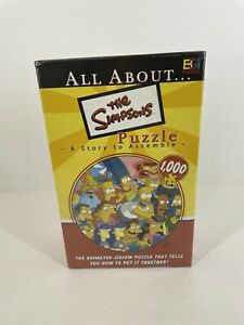 2004 BGI The Simpson's A Story To Assemble 1026 pc Jigsaw Puzzle NEW SEALED