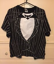 Tim Burton's The Nightmare Before Christmas Bat Tye Striped T-Shirt! Nice!
