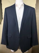 Ralph Lauren Black Label Slim Fit Blue Tweed Sport Coat Blazer Jacket Mens 46R