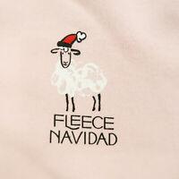 Fleece Navidad Funny Adults Christmas Feliz Navidad Xmas Sweatshirt Pink L