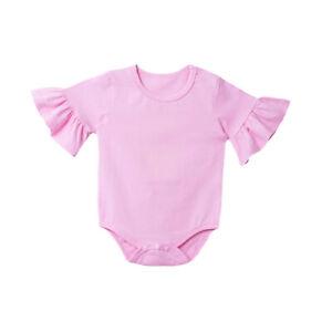 Newborn Baby Girls Clothes Short Sleeves Bodysuit Cotton Romper Casual Jumpsuit