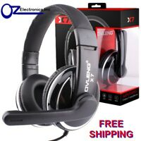 Headset Headphone Microphone for PC MAC SKYPE BRAND BLACK SILVER Zoom Teams NEW